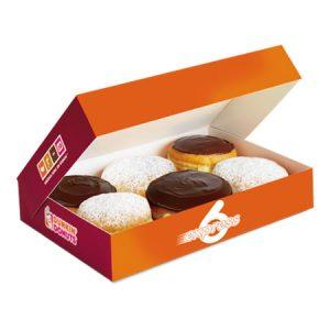 caja de 6 donas dunkin donuts