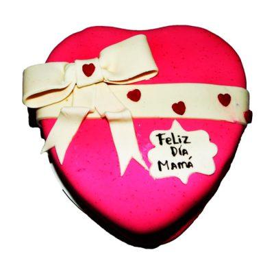 Torta corazon Rosada
