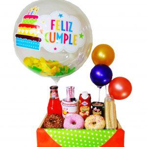 Desayuno Cumpleaños y Globo burbuja